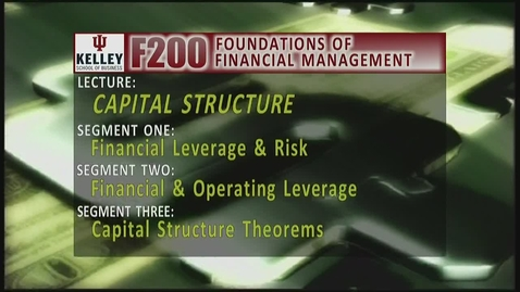 Thumbnail for entry F200 10-1 Financial Leverage & Risk