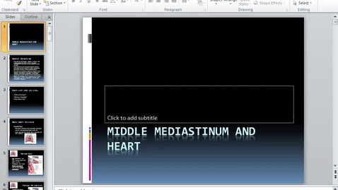 Thumbnail for entry BL, HS, 9/23/2016 - Middle Mediastinum & Heart