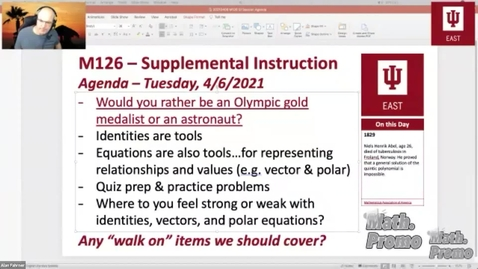 Thumbnail for entry SP21 M126 Week 12 Session 1 - Section 8.3 & 8.5 and Quiz Prep