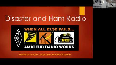 Thumbnail for entry Statewide IT 2018 - Disaster and Ham Radio
