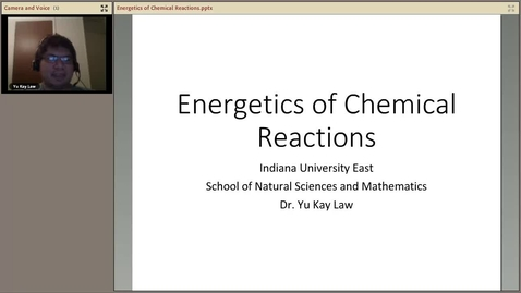 Thumbnail for entry Energetics of Chemical Reactions - C101 Version