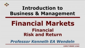 Thumbnail for entry X100 12-2 Financial Risk and Return