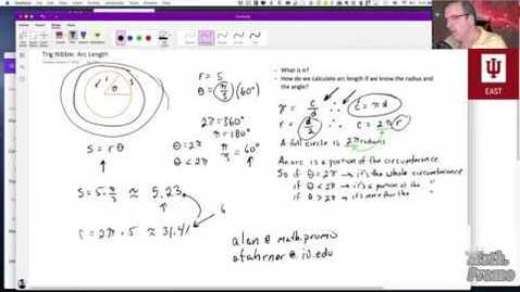 Thumbnail for entry Trig Nibble:  Arc Length