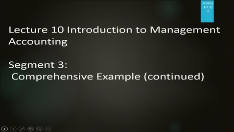 Thumbnail for entry A186 10-3 Introduction to Management Accounting