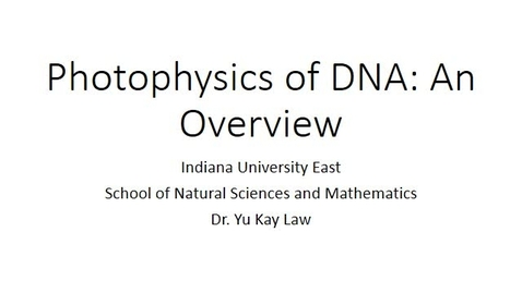 Thumbnail for entry Photophysics of DNA