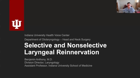 Thumbnail for entry 07.01.2020 Department of Otolaryngology Grand Rounds