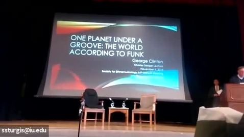 Thumbnail for entry 2019 SEM Annual Meeting Video - Charles Seeger Lecture : George Clinton