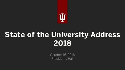 Thumbnail for entry State of the University 2018