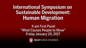 "Thumbnail for entry CIBER Symposium on Human Migration & Sustainable Development: ""What Causes People to Move"" - Jan. 20, 2017"