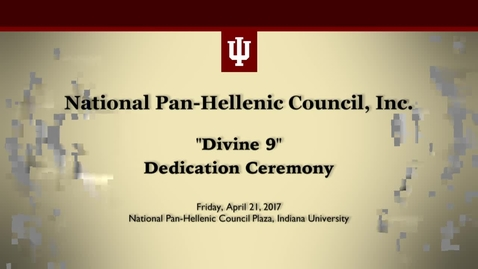 Thumbnail for entry National Pan-Hellenic Council: Divine Nine Plaza Dedication Ceremony