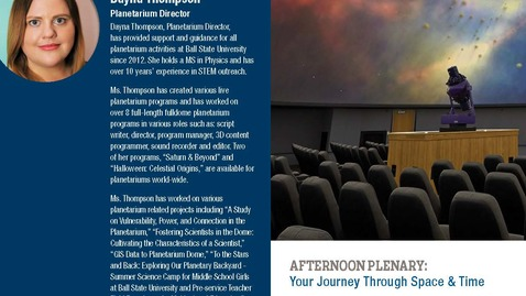 Thumbnail for entry Afternoon Plenary, Dayna Thompson, Your Journey Through Space & Time