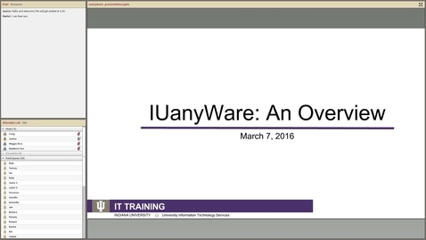 Thumbnail for entry IUanyWare: An Overview - Webinar Recording