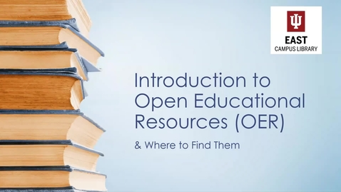 Thumbnail for entry Introduction to Open Educational Resources (OER) Webinar 1