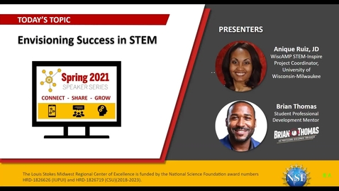 Thumbnail for entry Envisioning Success in STEM