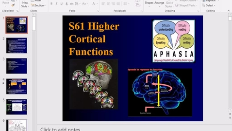 Thumbnail for entry Higher cortical function - 2017 May 09 03:52:17