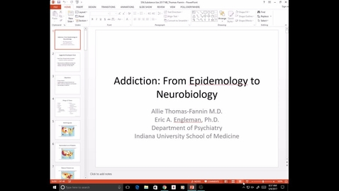 Thumbnail for entry Evv-N&B-Substance Use - Dr. Thomas-Fannin - 2017 May 09 10:03:05