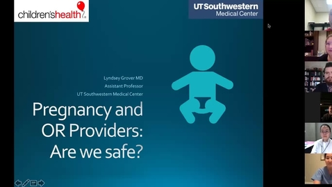 Thumbnail for entry Pregnancy and OR Providers: Are We Safe?