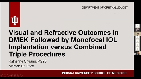 Thumbnail for entry Visual and refractive outcomes in DMEK followed by monofocal IOL implantation versus combined triple precedures.