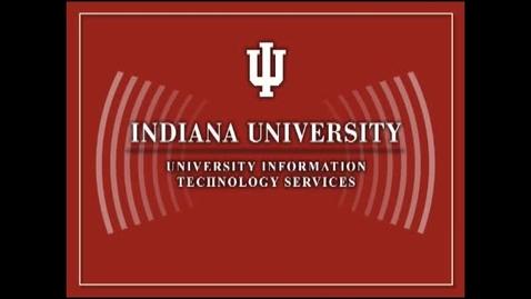 Thumbnail for entry CIO Cabinet Talk: IT Strategic Plan 2: Vice President Brad Wheeler