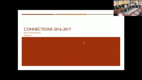 Thumbnail for entry Connections Presentation & Discussion: MSE Leadership 03_29_2017