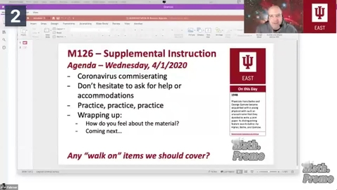 Thumbnail for entry SP20 M126 Supplemental Instruction Module 4 Session 4