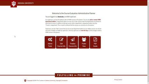 Thumbnail for entry Course Evaluation Planner for Superusers