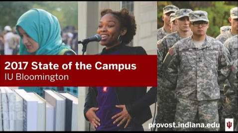 Thumbnail for entry IU Bloomington State of the Campus Address