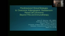 """Thumbnail for entry IUSCC_Grand_Rounds """"Preclinical and Clinical Strategies to Overcome Antiangiogenic Resistance  in Renal Cell Carcinoma: Beyond TKIs and immunotherapy"""" presented by Jaime Merchan, MD_20170512.mp4"""