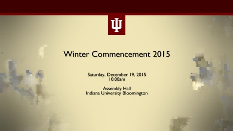 Thumbnail for entry Winter Commencement 2015