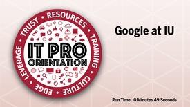 Thumbnail for entry Google at IU