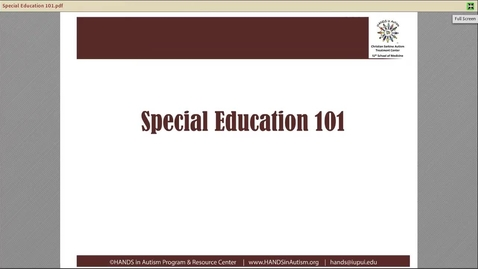 Thumbnail for entry Special Education 101