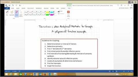 Thumbnail for entry M215_4.3 Derivatives & Graphing, Poly Example