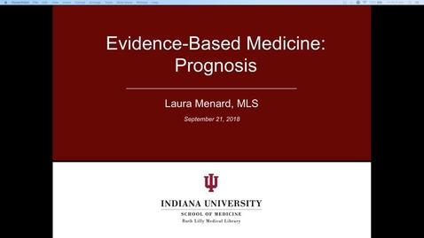 Part 1 - EBM Prognosis: Welcome