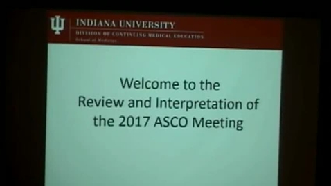 Thumbnail for entry ASCO Review 2017 PM - 20170721