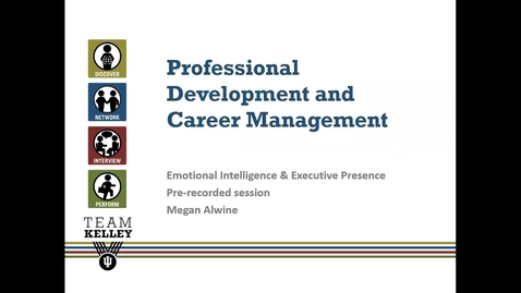 Thumbnail for entry Emotional Intelligence and Executive Presence Recording