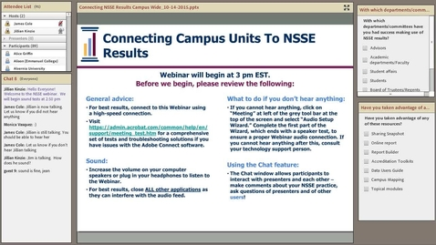 Thumbnail for entry Connecting Campus Units to NSSE Results
