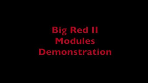 Thumbnail for entry HPC Demo 2 - Modules