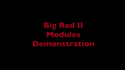 Thumbnail for entry HPC Demo 2 - Modules
