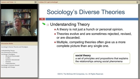 Thumbnail for entry Sociology Theories and Paradigms