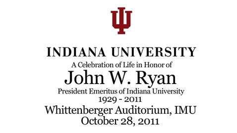 Thumbnail for entry Celebration of the  Life of John Ryan
