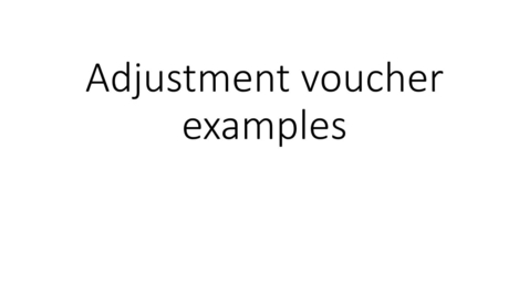 Thumbnail for entry Adjustment Voucher example - missing hours