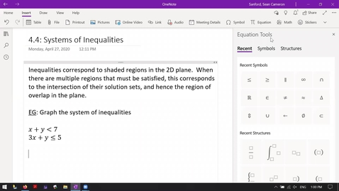 Thumbnail for entry Alg 4.4: Systems of Inequalities Intro