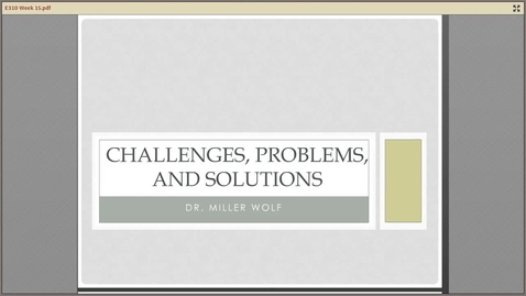 Thumbnail for entry E310 Problems Challenges and Solutions Week 15.mp4