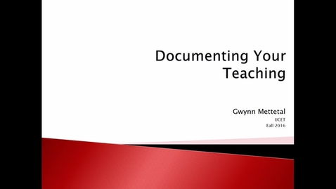 Thumbnail for entry Documenting Your Teaching