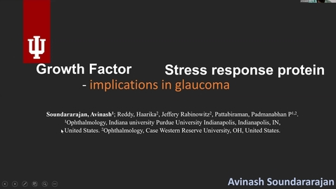 Thumbnail for entry Growth factor vs. Stress response protein: implications in glaucoma