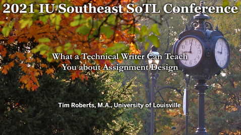Thumbnail for entry What a Technical Writer Can Teach You about Assignment Design