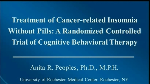 Thumbnail for entry IUSCC  Grand Rounds April 13, 2018 - Anita Peoples, PhD