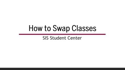 Thumbnail for entry How to Swap Classes