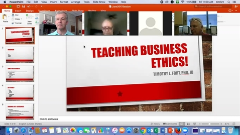 Thumbnail for entry ALSB - Teaching Business Ethics with Tim Fort