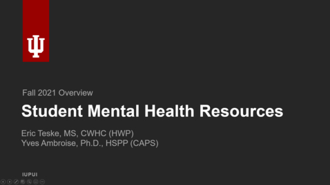 Thumbnail for entry Get to Know: Student Mental Health Resources
